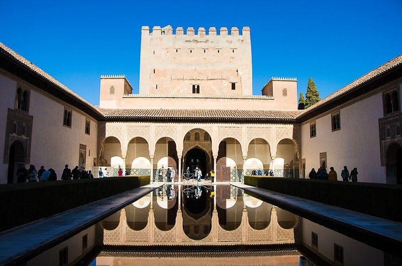 Alhambra, kompleks pałacowy Nasrydow